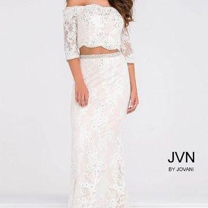 Jovani Fitted Lace Dress JVN47915